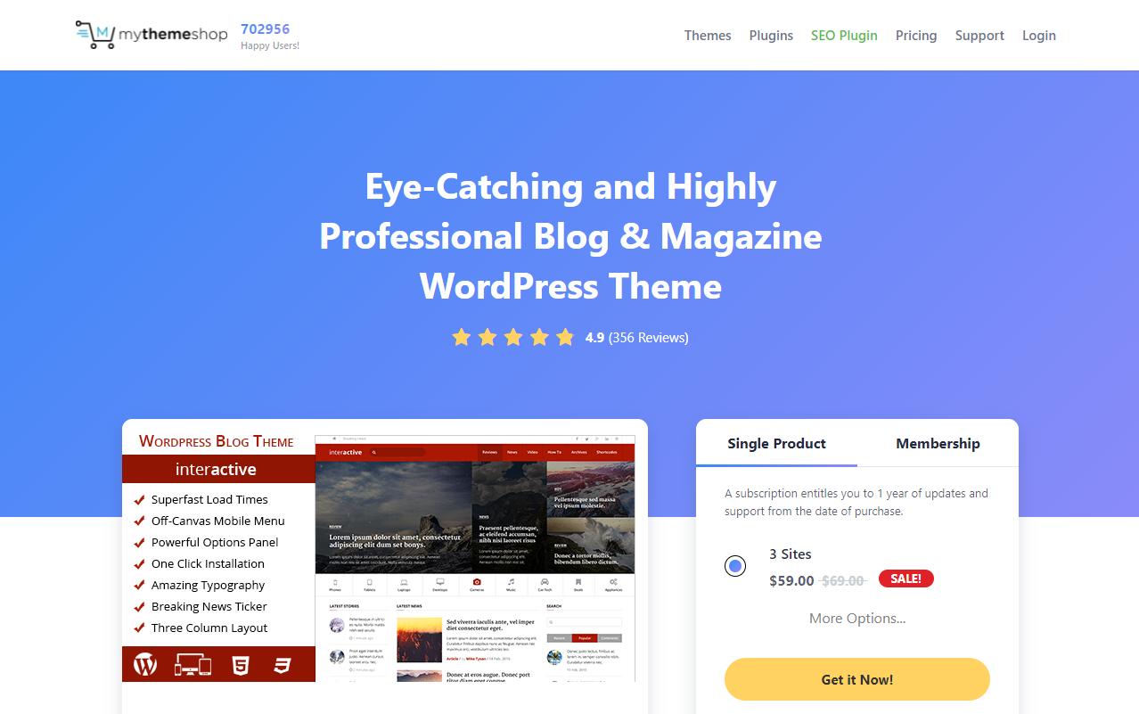 Adsense optimized WordPress Themes-Interactive