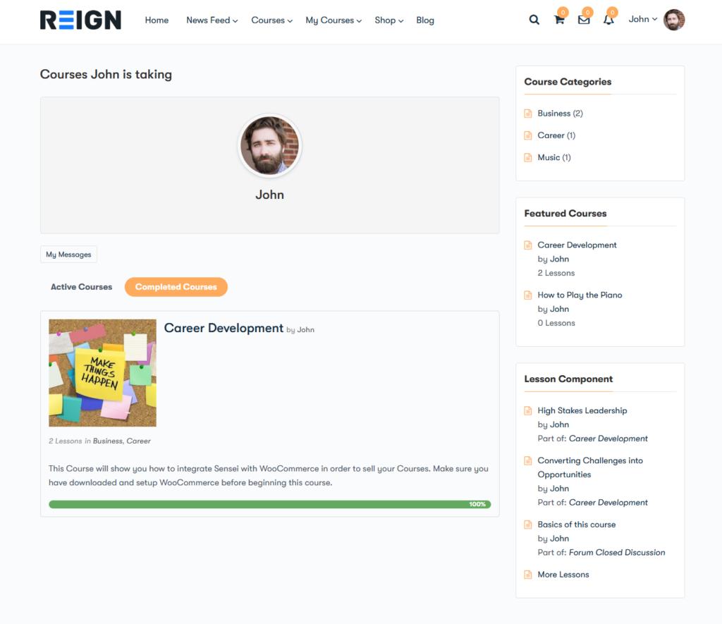 Learner Profile - Wbcom Designs