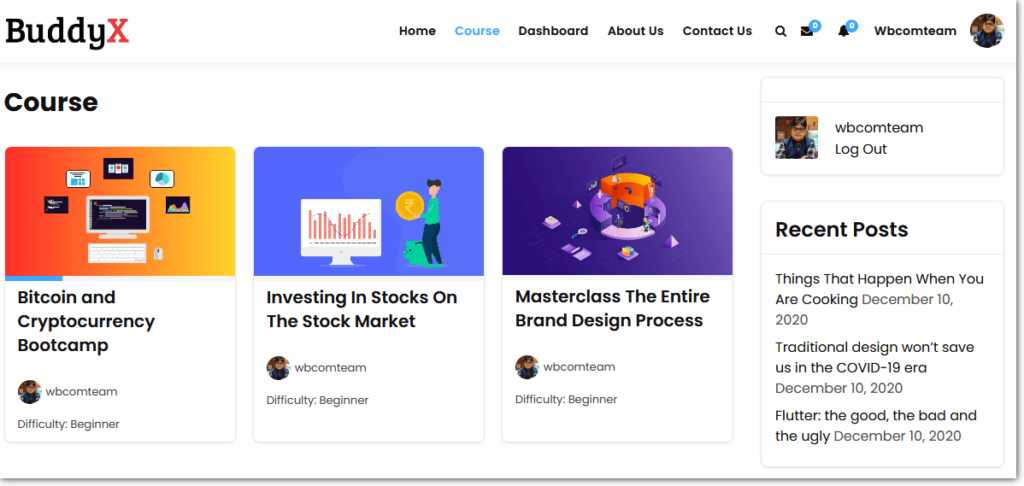 Free LifterLMS Theme Course Directory Layout
