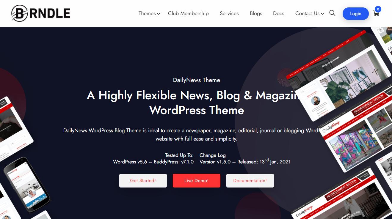 Adsense optimized WordPress Themes-Daily News