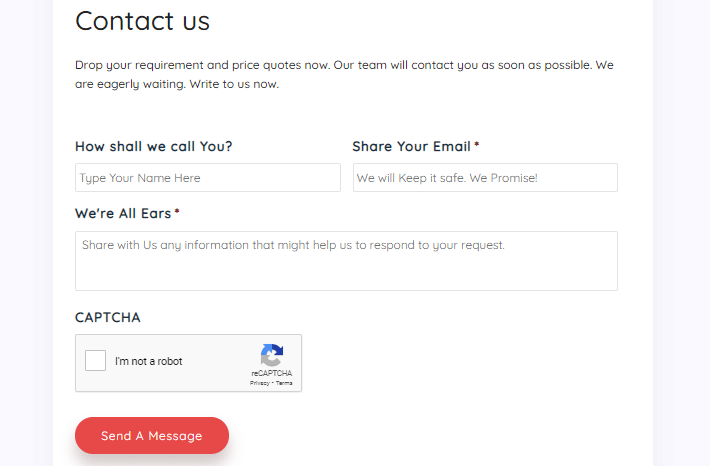 Conversion Rates With Contact Forms
