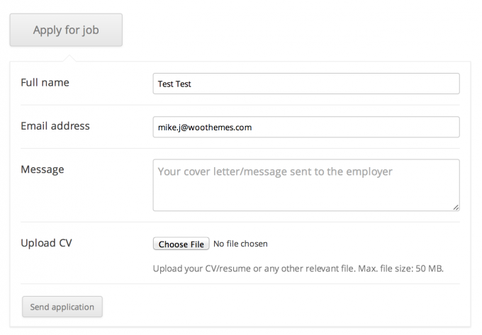 The Job Application Form
