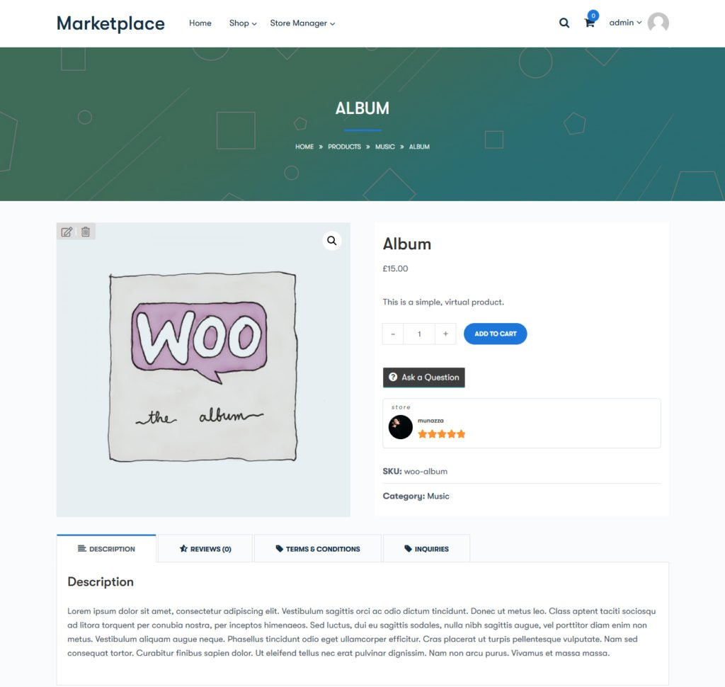 single product - Wbcom Designs