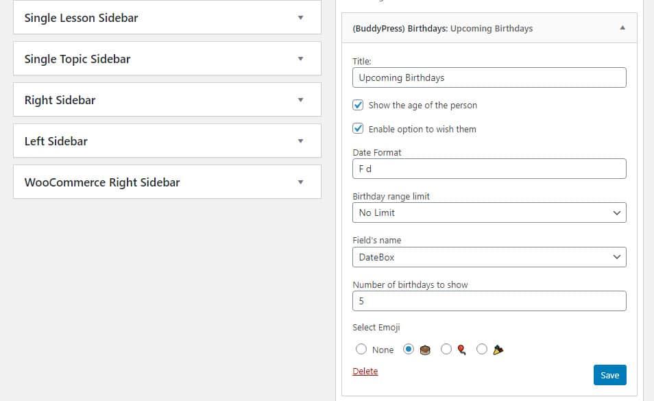BuddyPress Birthday img1 - Wbcom Designs