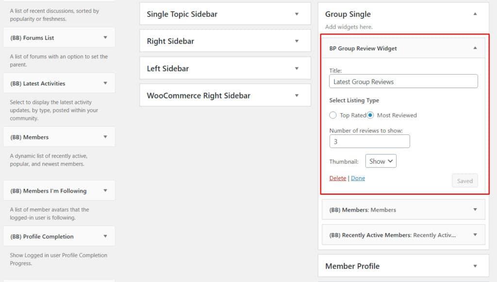 BuddyPress Group Reviews img4 - Wbcom Designs