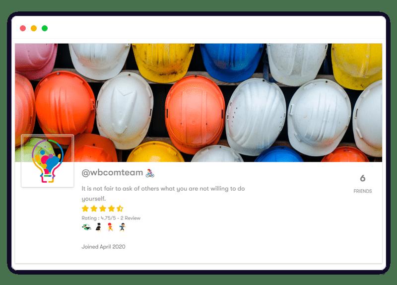 BuddyPress User Profile Reviews