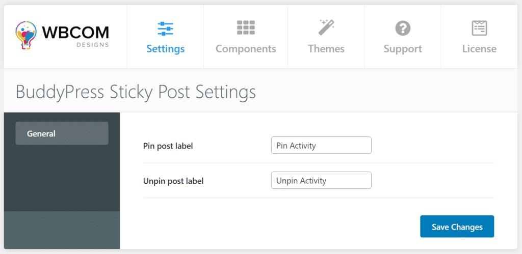 BuddyPress sticky post