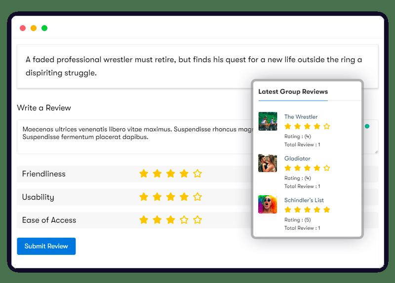 Group Reviews esayuse - Wbcom Designs