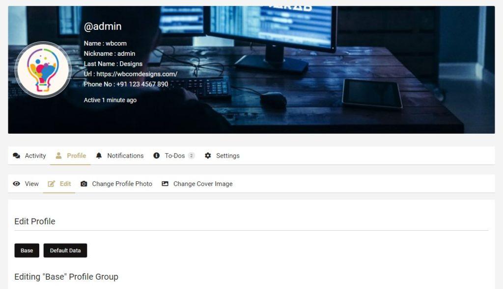 Header Profile - Wbcom Designs
