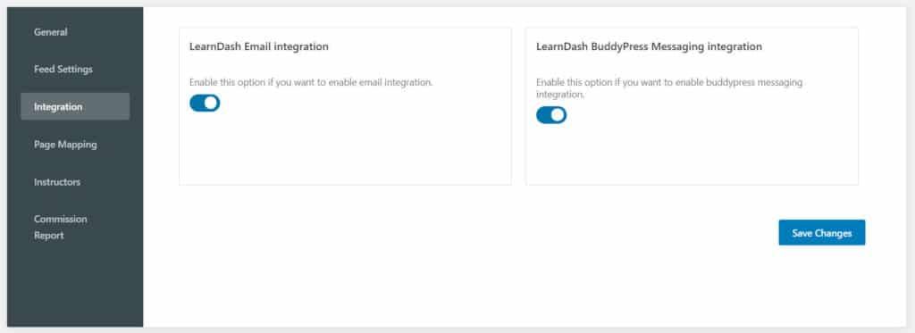 LD Dashboard integration - Wbcom Designs