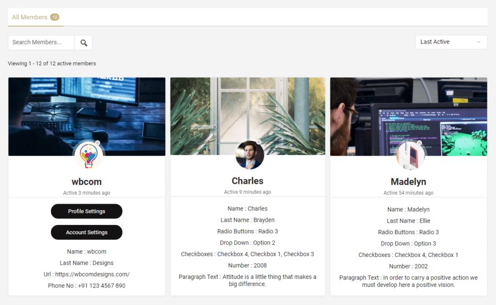 Members list - Wbcom Designs