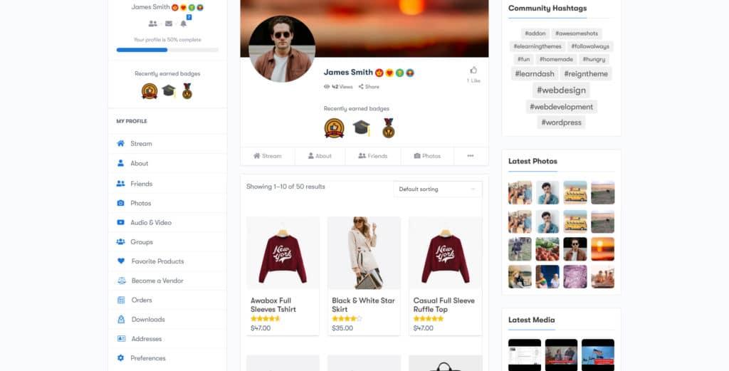 PeepSo WooCommerce Integration img6 - Wbcom Designs