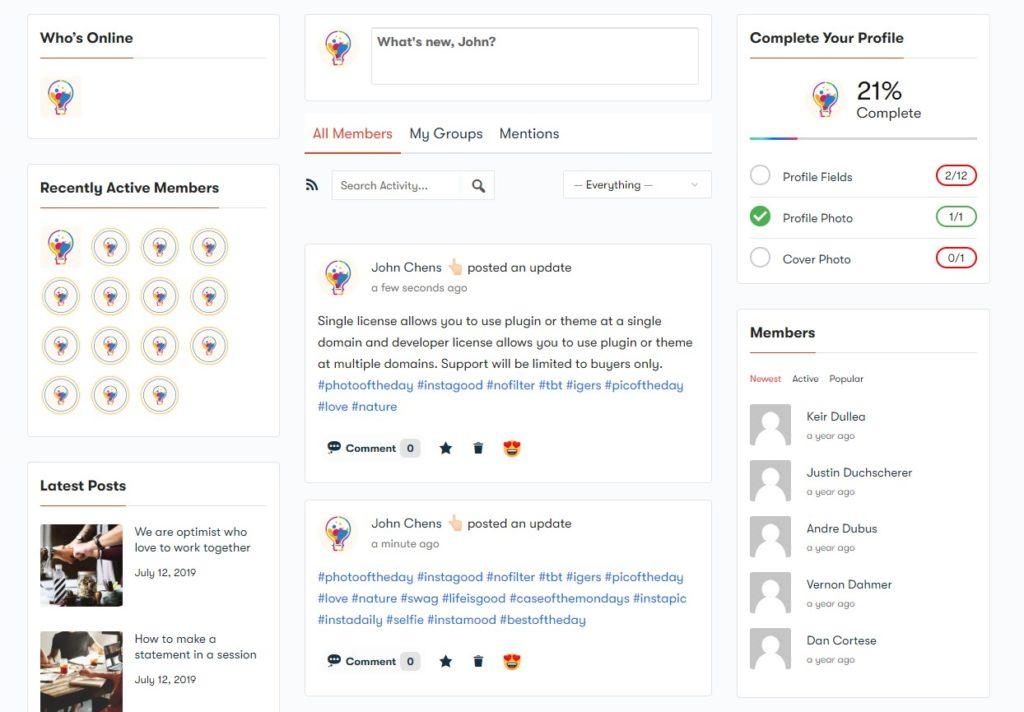 Screenshot 8 - Wbcom Designs