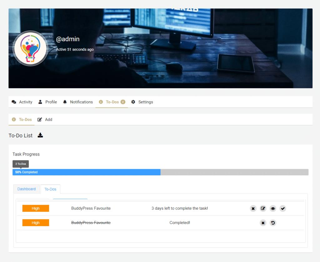 To Do listing - Wbcom Designs