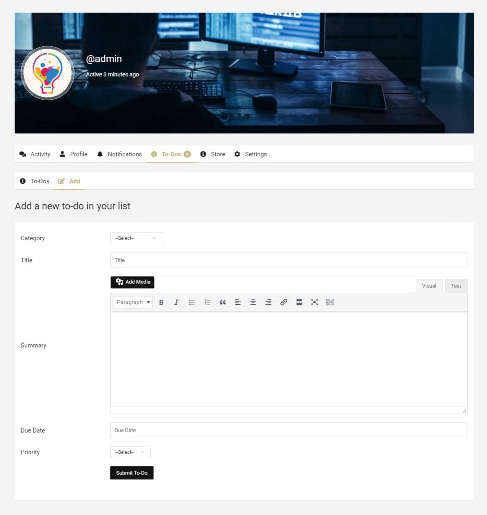add to do list view - Wbcom Designs
