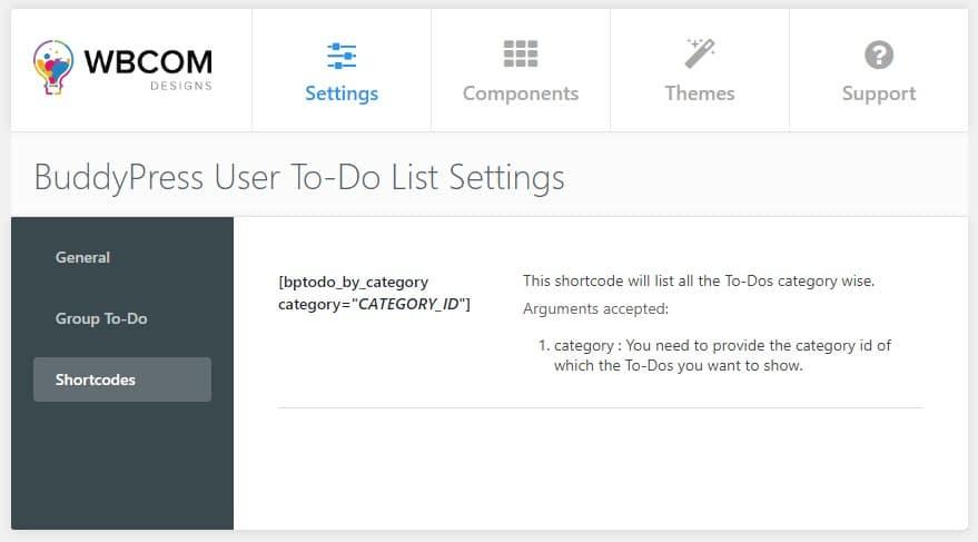 categories to do list - Wbcom Designs