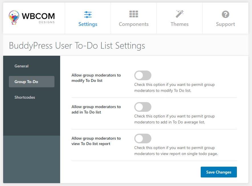 group to do list - Wbcom Designs