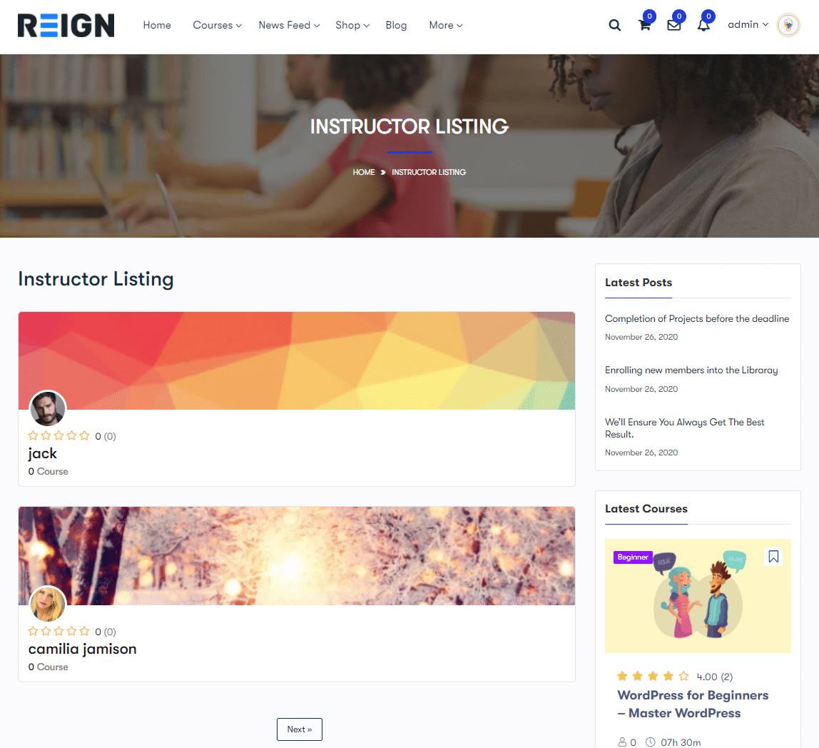 list - Wbcom Designs