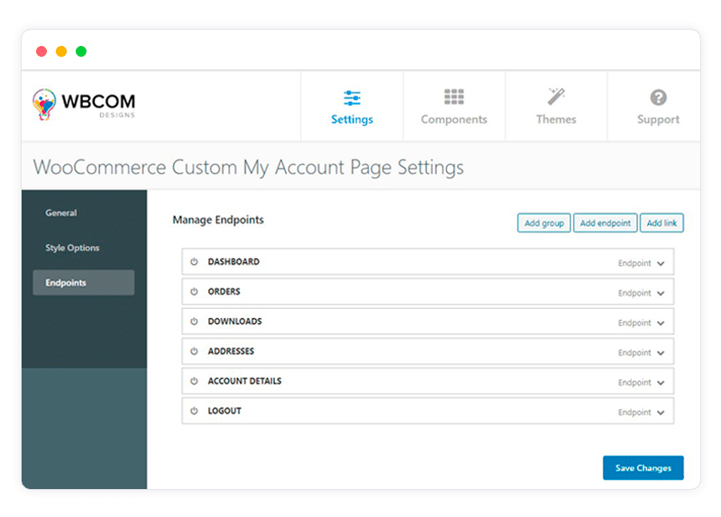 my account page setting - Wbcom Designs