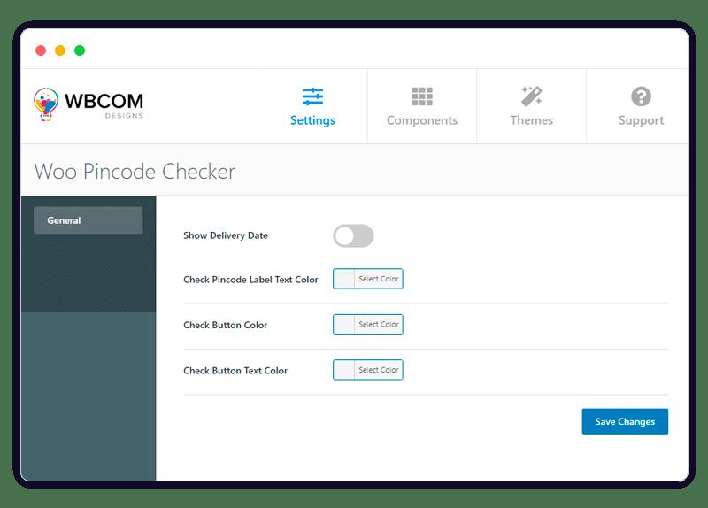 pincode checker - Wbcom Designs
