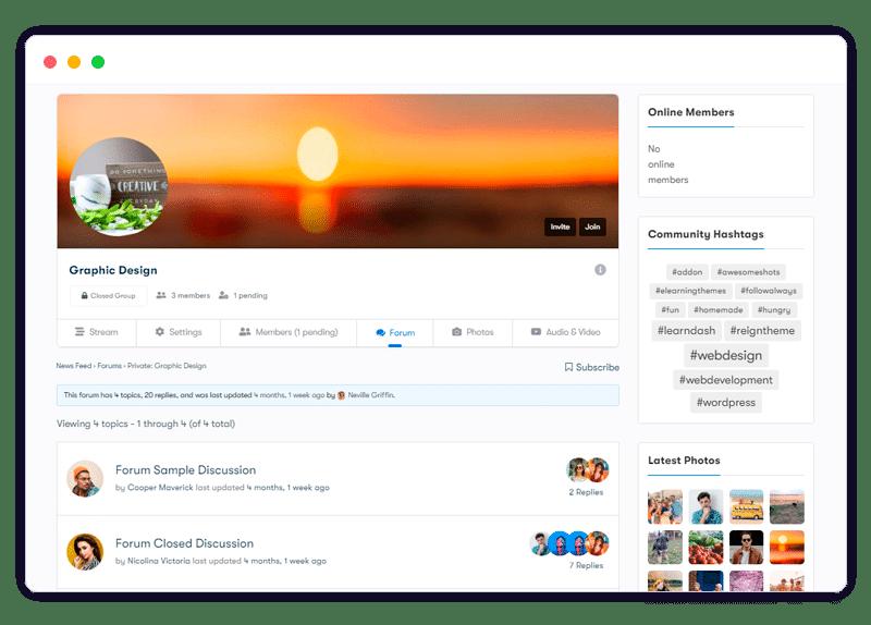 plugin features bbPress groups