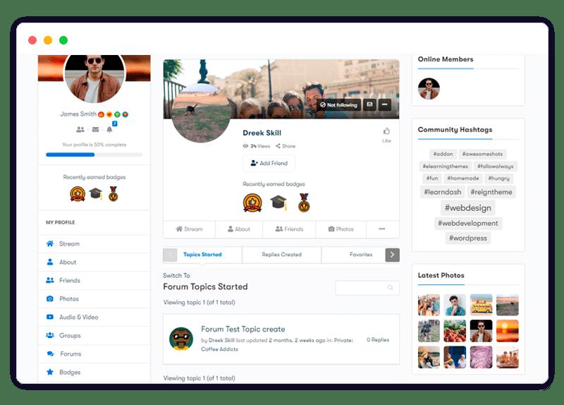plugin features bbPress profile