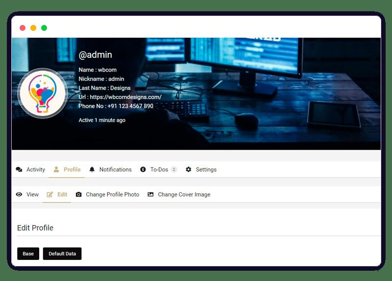 profile 1 - Wbcom Designs