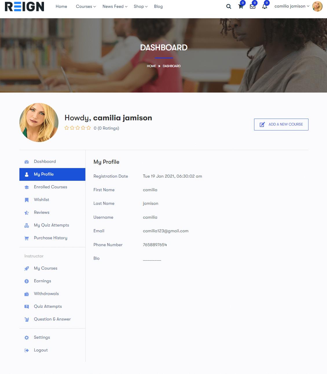 profile - Wbcom Designs