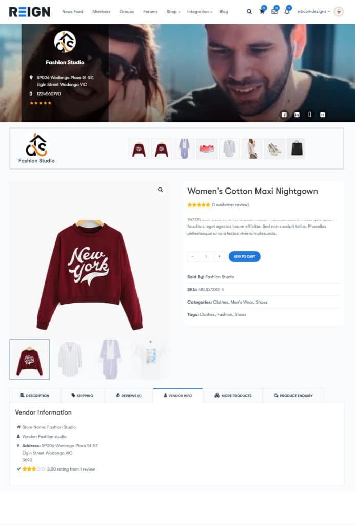 single product vendors - Wbcom Designs