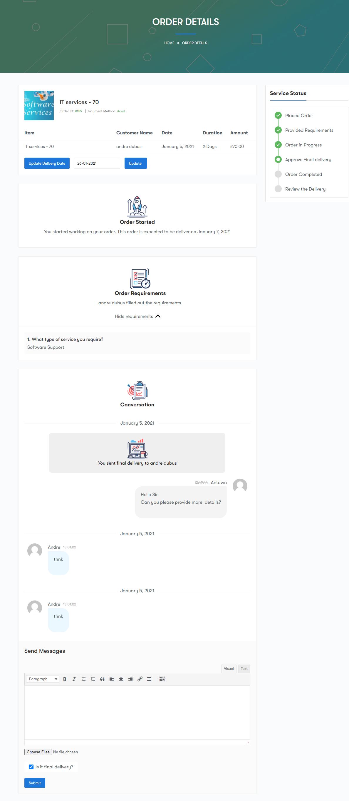 support - Wbcom Designs