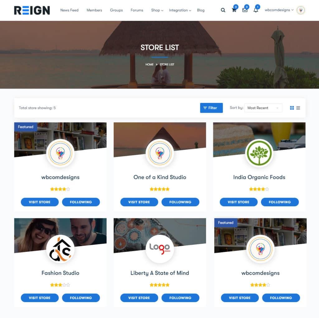 vendor list - Wbcom Designs