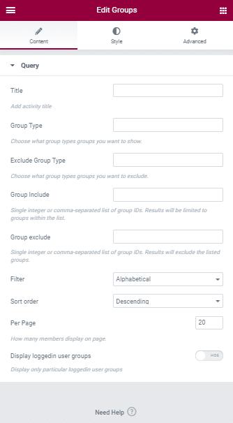 BuddyPress Elementor Shortcode Widgets