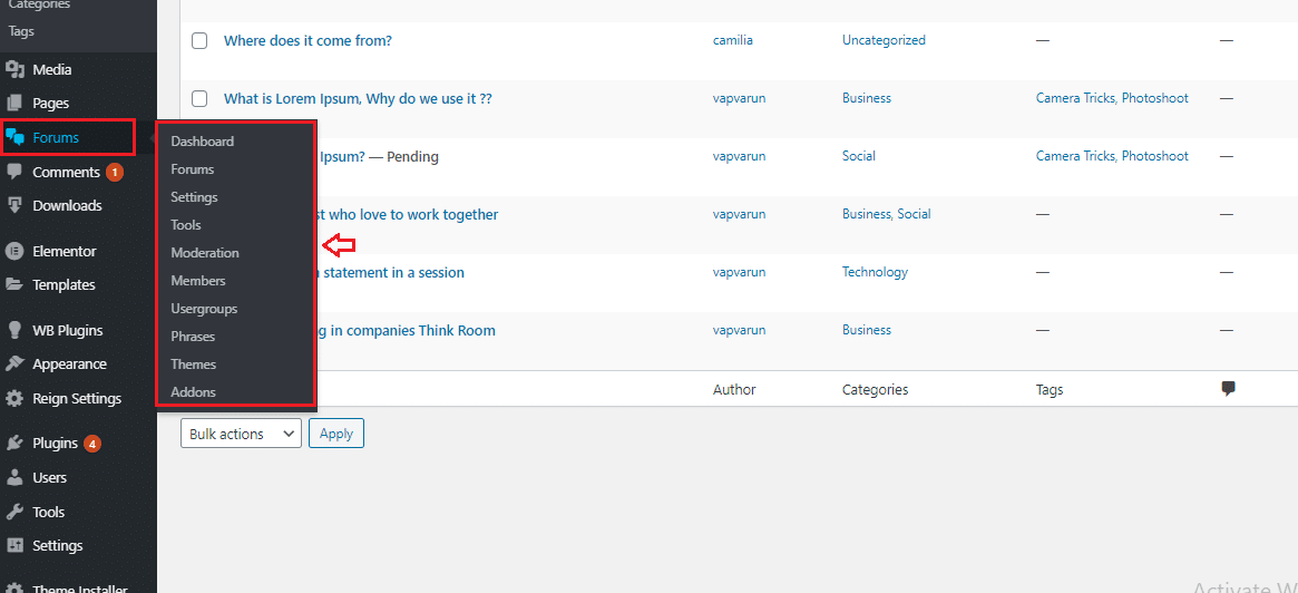 wpForo Plugin Installation