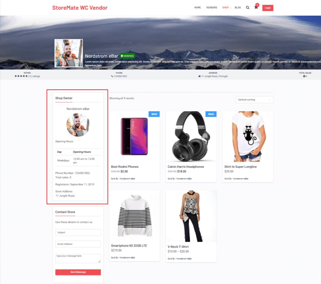 reign store widget - Wbcom Designs