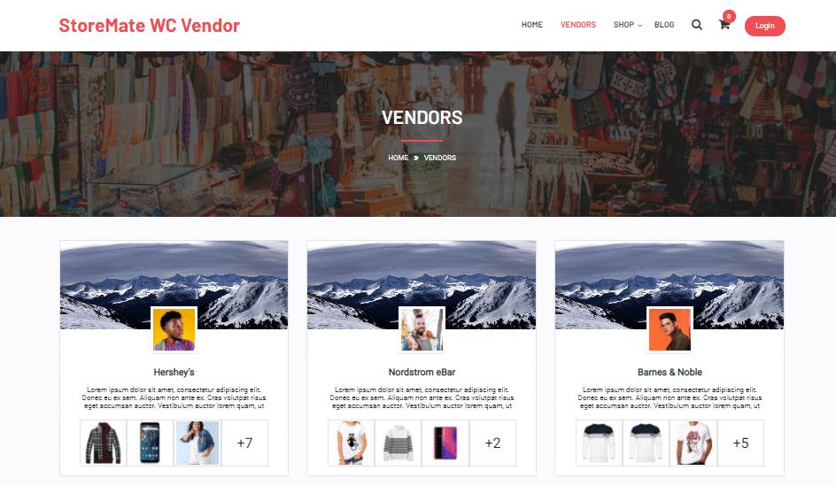 store vendors - Wbcom Designs