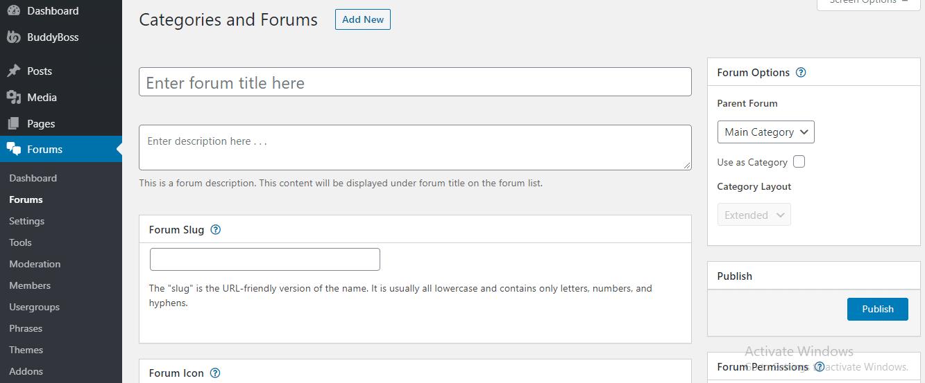 How To Add New Forum Using wpForo