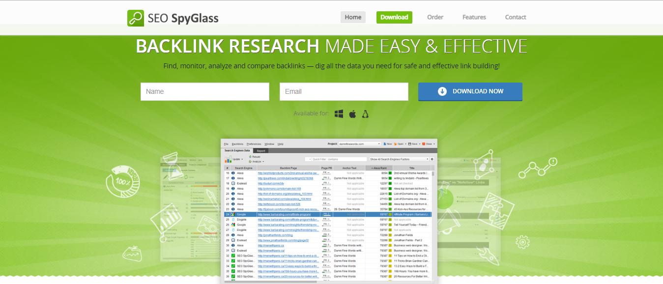 SEO SpyGlass - online reputation management tool