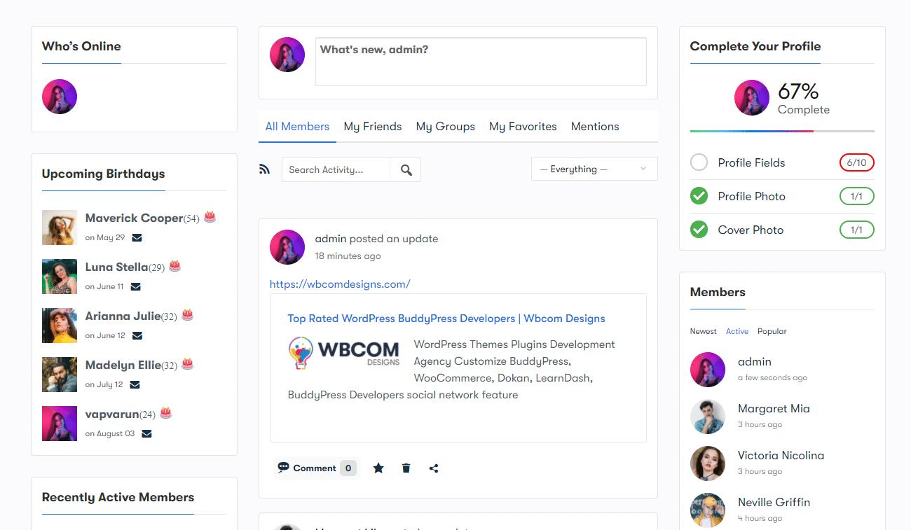 Screenshot - Wbcom Designs