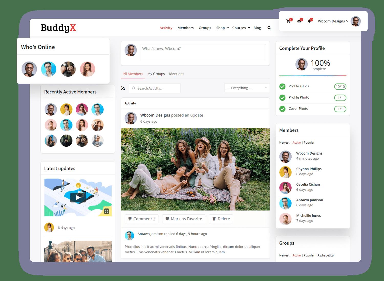 Buddyx BuddyPress