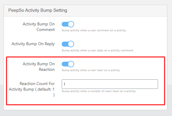 bump activity reaction count - Wbcom Designs