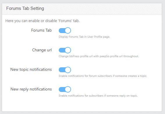 forum tab setting panel