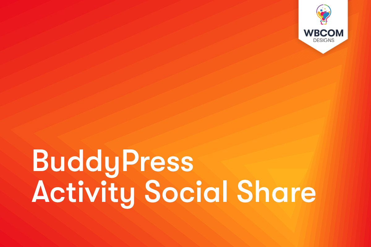 BuddyPress Activity Social Share