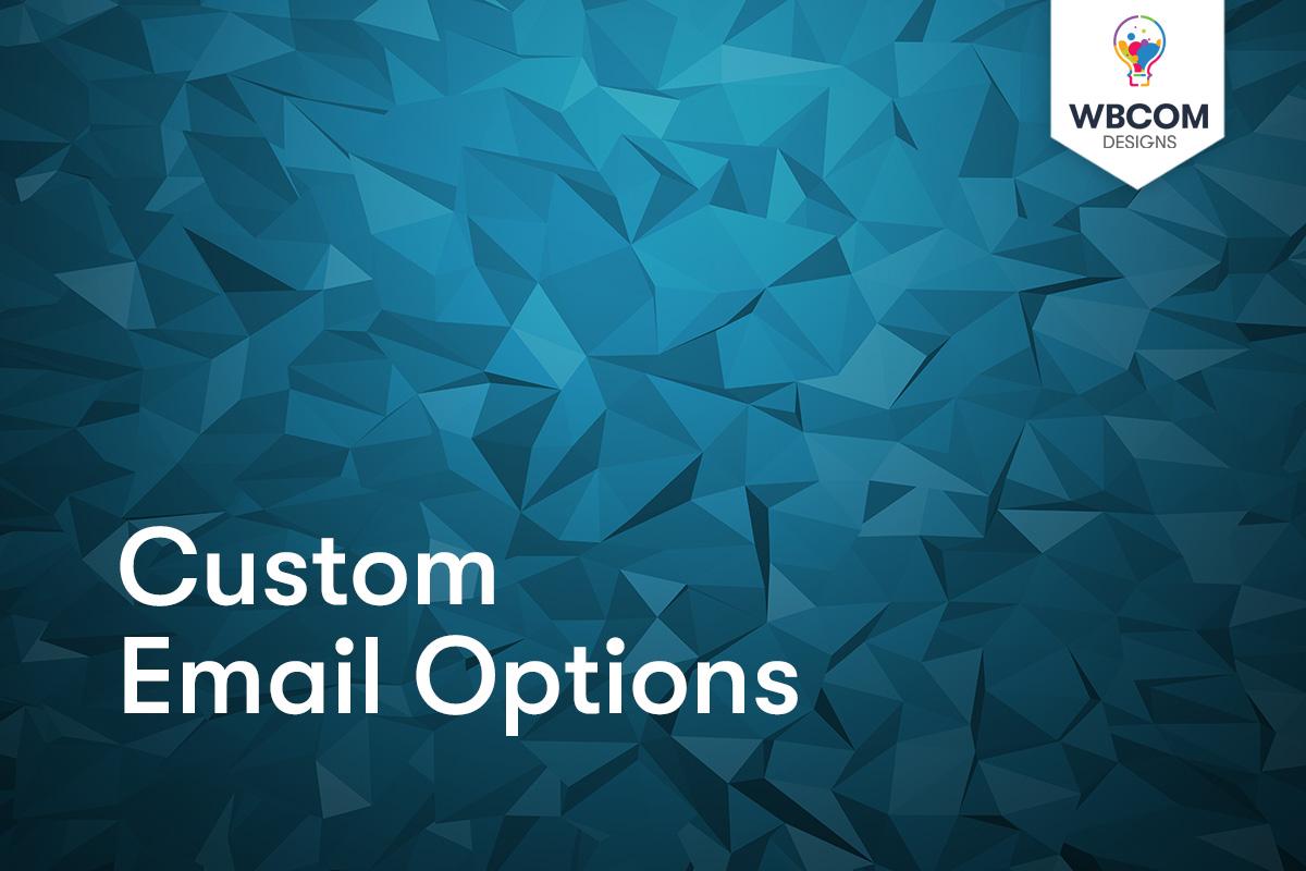 Custom Email Options