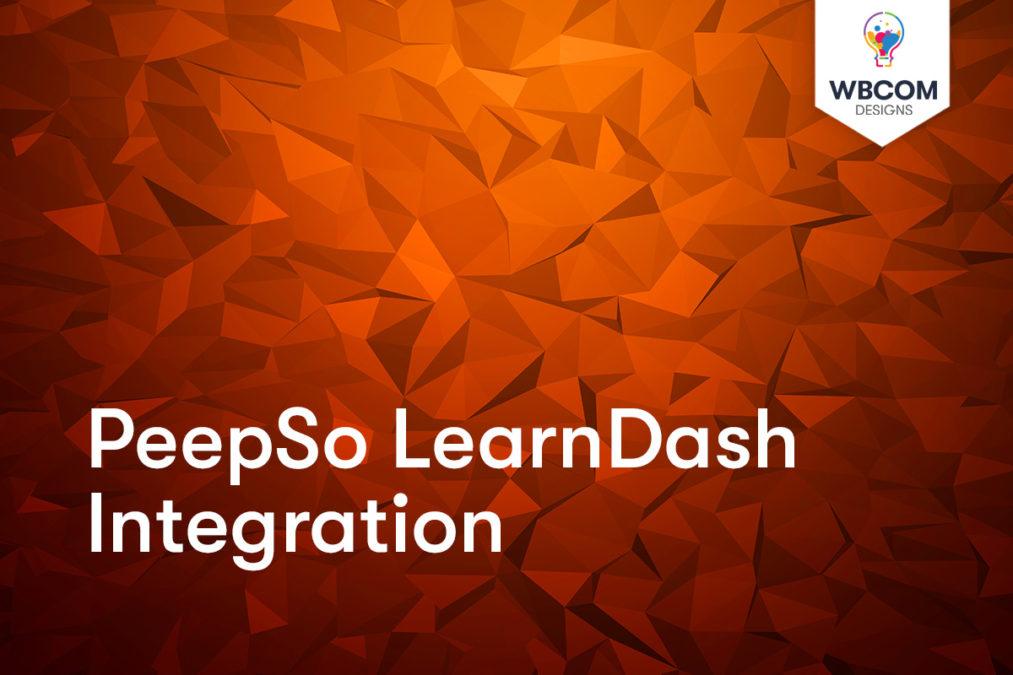 PeepSo LearnDash Integration - Wbcom Designs