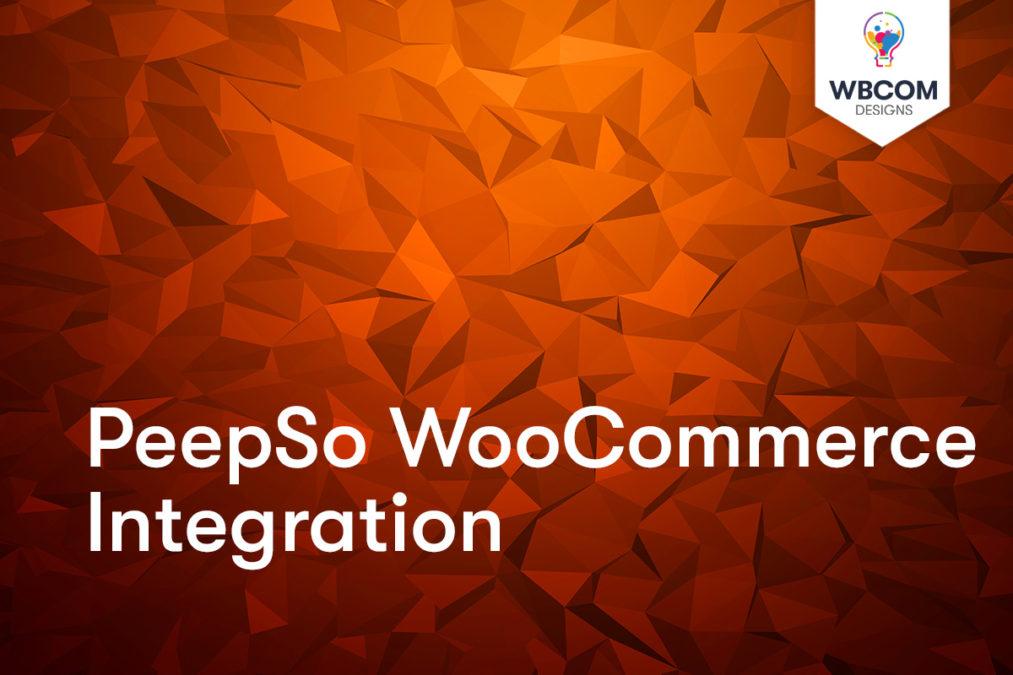 PeepSo WooCommerce Integration - Wbcom Designs