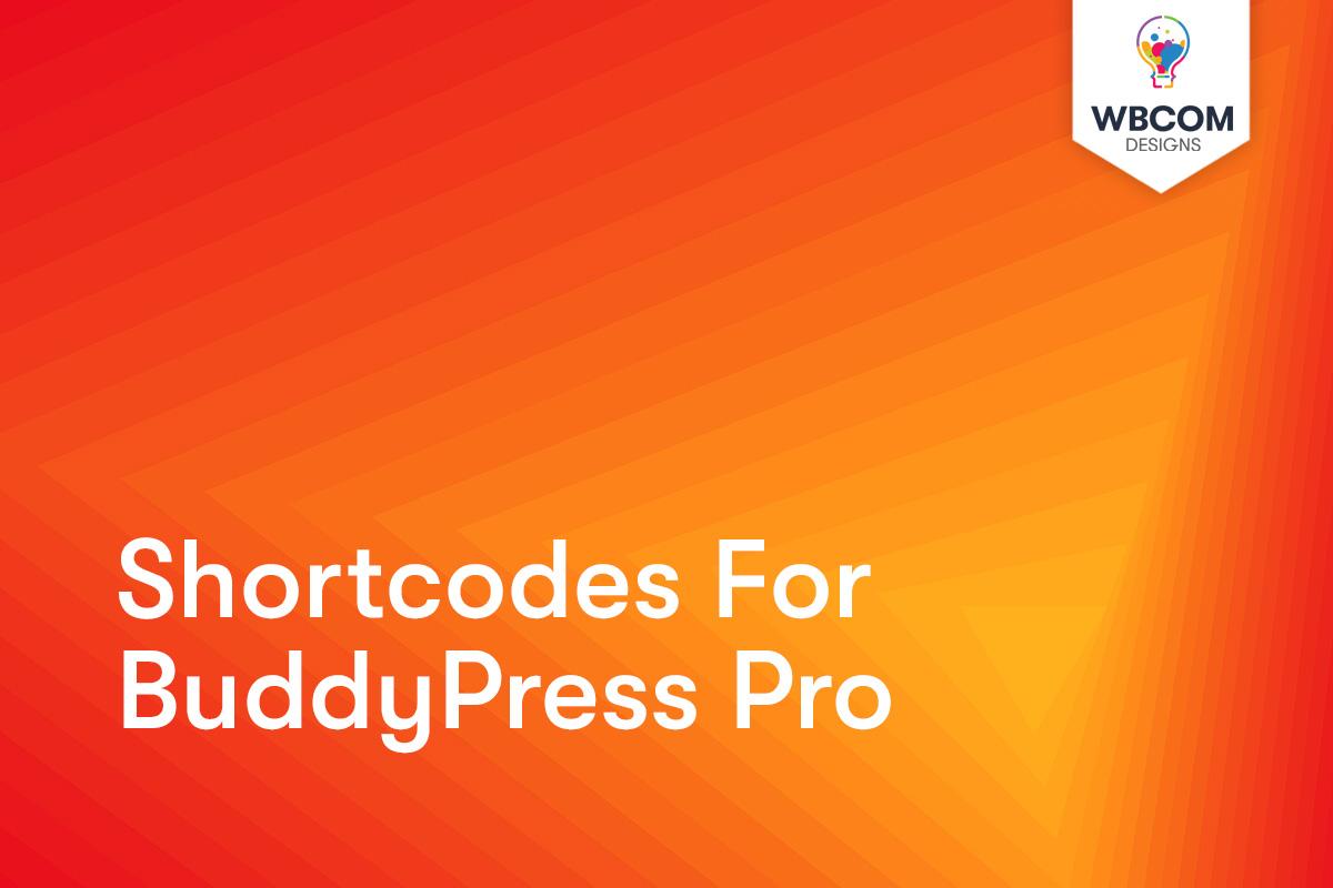 BuddyPress Shortcodes