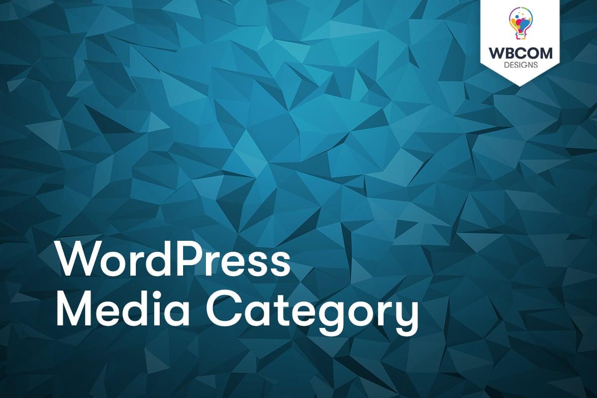 WordPress Media Category