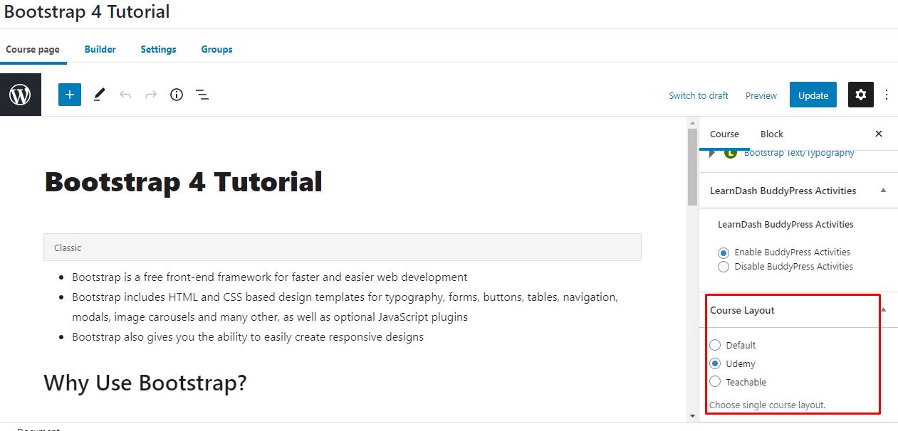 single course layout - Wbcom Designs