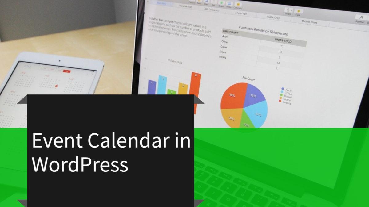 event calendar in WordPress