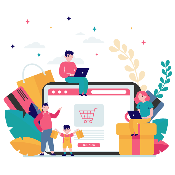 happy people shopping online 1 - Wbcom Designs
